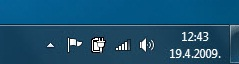 Windows 7: Tray