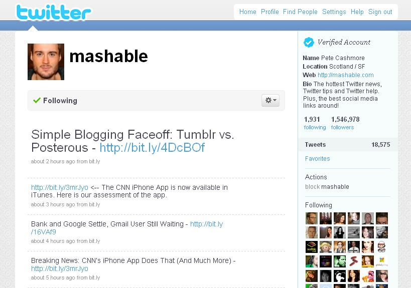 mashable on twitter